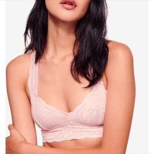 NWT Free People Galloon Lace Racer Back Bralette